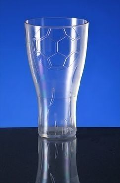EURO CUP football beer glass 0,5l crystal clear plastic reusable food safe – Bild 4