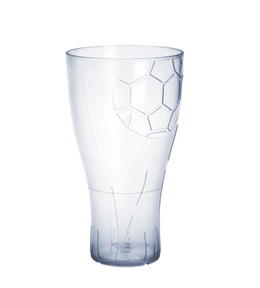 EURO CUP football beer glass 0,5l crystal clear plastic reusable food safe