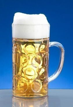 12piece Beer mug 1l SAN Crystal clear of plastic dishwasher safe and food safe – Bild 3