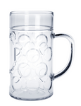 12piece Beer mug 1l SAN Crystal clear of plastic dishwasher safe and food safe
