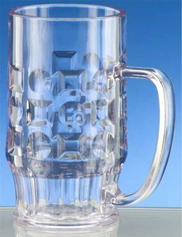 12 piece Beer mug 0,5l SAN Crystal clear of plastic dishwasher safe and food safe – Bild 2