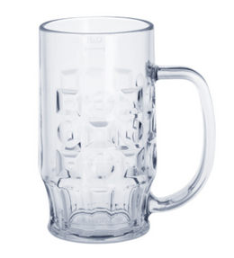 12 piece Beer mug 0,3l SAN Crystal clear of plastic dishwasher safe and food safe – Bild 1