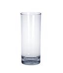 12 piece Bar glass exklusive 0,25l - Plastic crystal clear SET