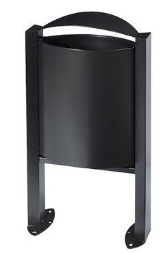Rossignol Arkea Abfallkorb 40L aus korrosionsgeschütztem Stahl auf Standfuss  – Bild 3