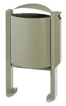 Rossignol Arkea trash can 40 liter made of steel with ashtray 3L with pedestal  – Bild 1