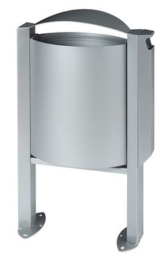 Rossignol Arkea trash can 40 liter made of steel with ashtray 3L with pedestal  – Bild 2