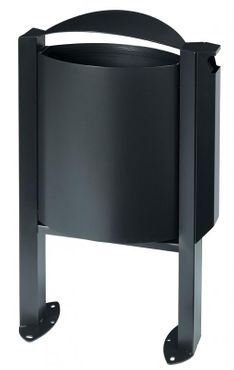 Rossignol Arkea trash can 40 liter made of steel with ashtray 3L with pedestal  – Bild 4