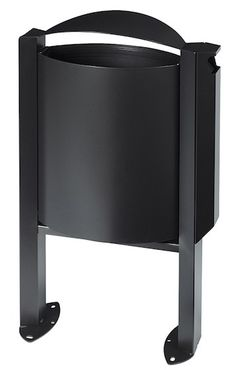 Rossignol Arkea trash can 40 liter made of steel with ashtray 3L with pedestal  – Bild 3