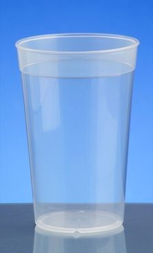 Plastic reusable-cup transparent 0,2l - 0,5l PP stack able – Bild 2