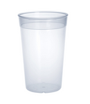 Plastic reusable-cup transparent 0,2l - 0,5l PP stack able