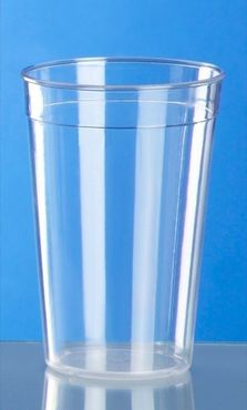 Plastic reusable-cup crystal clear 0,2l - 0,5l PC stackable – Bild 2