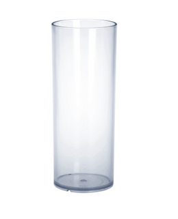 Bar glass 0,25l PC plastic crystal clear reusable food safe – Bild 1