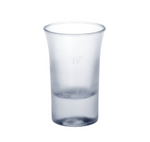 Shot glass frosted 2cl B52 SAN of plastic very robust and reusable