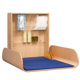 Folding wood changing table professional available in beech wood or in white – Bild 5
