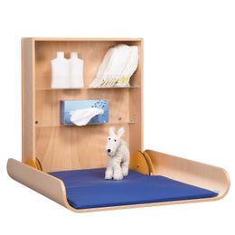 Folding wood changing table professional available in beech wood or in white – Bild 1