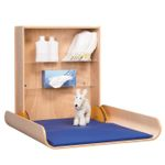 Folding wood changing table professional available in beech wood or in white