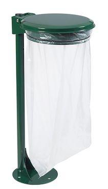 Rossignol Müllsackhalterung 110L mit oder ohne Deckel an Pfosten mit Bodenplatte – Bild 3