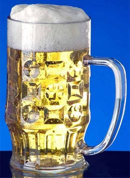 Beer mug 0,3l - 0,5l SAN crystal clear plastic dishwasher safe and food safe – Bild 4