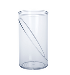 water glass 0,25l SAN crystal clear of plastic reusable