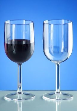 Plastic wine glass 1/8l - 1/4l SAN crystal clear reusable dishwasher safe – Bild 2