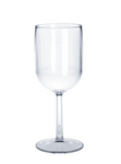 Plastic wine glass 1/8l - 1/4l SAN crystal clear reusable dishwasher safe
