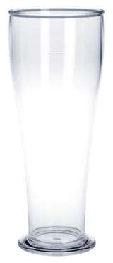 Wheat beer glass 0,3L / 0,5L SAN crystal clear of plastic reusable and robust – Bild 1