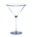 Mehrweg Martini Glas Glasklar aus Kunststoff ca. 0,1l SAN Kunststoff