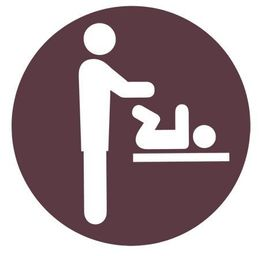 Baby changer sticker Man