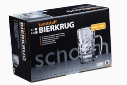Present-Set: 6 piece. beer jug 0,4l SAN of plastic + carton – Bild 1