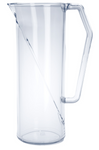 Plastic water jug 1l SAN crystal clear reusable suitable for dishwasher