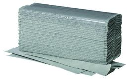 Groene 1-laags papieren handdoekjes v-vouw 100% Recycled 5000 St.