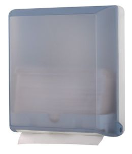 Papertowel dispenser MP707 made of plastic wall mounting in glass or transparent – Bild 1