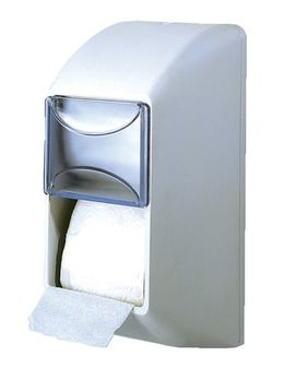 White double toilet paper dispenser made of plastic for wall mounting MP670 – Bild 1