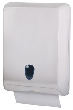 Marplast hand towel dispenser MP830 - V-fold or Z-fold made of plastic in white