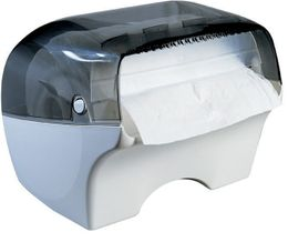 Marplast papertowel dispenser Bobinotto MP668 in white/transparent for wall mount