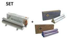 SET All in one Wrapmaster dispenser 1000 and cling film such as aluminium foil 1000