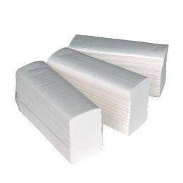 Papierhandtücher 2-lagig Zellstoff Z-Falz Interfolded Zellstof 3750 weiss – Bild 1