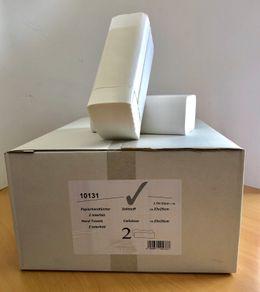 Papierhandtücher 2-lagig Zellstoff Z-Falz Interfolded Zellstof 3750 weiss – Bild 2