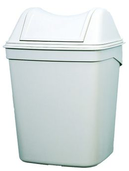 Marplast waste bin made of plastic in white 8 liter wall or stand modell