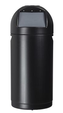 Rossignol Cyvomax black push flap bin 52 liter with optional ashtray  – Bild 2