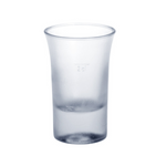 Shot glass 2cl B52 SAN frosted of plastic reusable