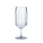 Wine glass 0,1l SAN crystal clear oft plastic reusable