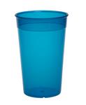 SET 20 Stuks herbruikbare plastic bekers 0,2L - Blauw