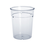 20 piece plastic reusable-cup crystal clear 0,2l PC stack able in set