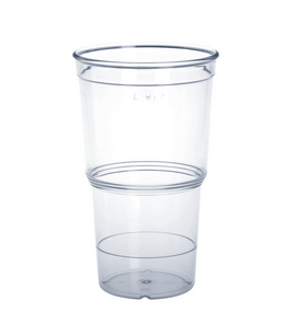 20 piece of ECO Cup crystal clear 0,25l of plastic – Bild 1