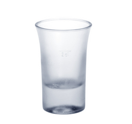 20 piece Shot glass 2cl B52 SAN frosted of plastic reusable – Bild 1
