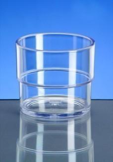20er Set Allround Cup 0,2l SAN glasklar aus Kunststoff – Bild 2