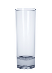 6 piece Longdrink Glass exklusiv of plastic 0,2l SAN crystal clear reusable