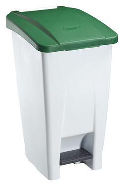 Rossignol fahrbarer Abfallbehälter mit Pedal 60L aus Polyethylen-Kunststoff – Bild 3