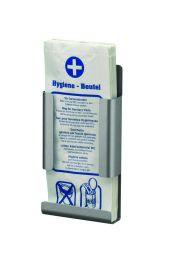 MediQo-line Hygienebeutelhalter zur Wandmontage erhältlich in Aluminium oder Edelstahl – Bild 1